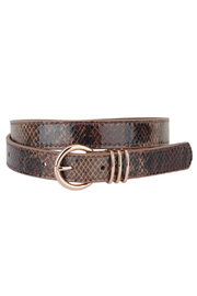 Most Wanted USA  Skinny Leather Belt - Product Mini Image