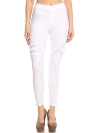 Color 5 Skinny Moto Pants - Front cropped