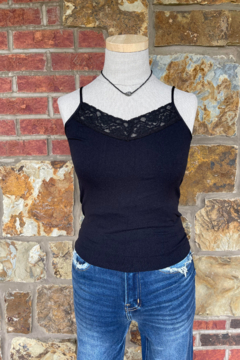 Shoptiques Product: Skinny Strap Lace Front Cami