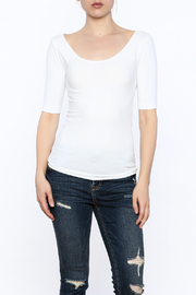SkinnyTees Scoop Neck Tee - Product Mini Image