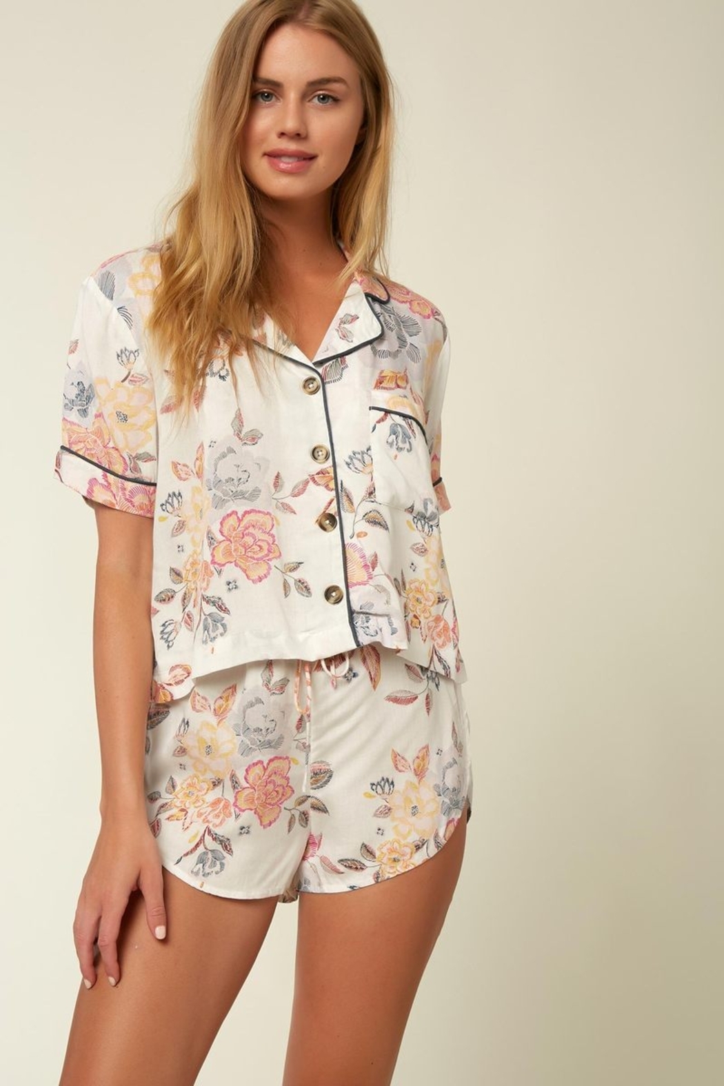 O'Neill Skipp Floral PJs - Front Cropped Image