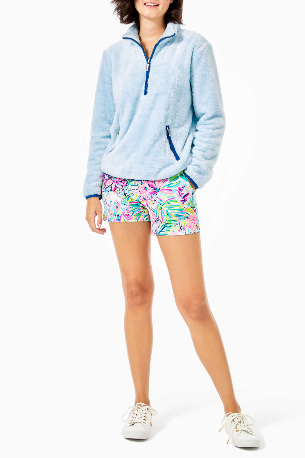 Lilly Pulitzer  Skipper Sherpa Popover - Back Cropped Image