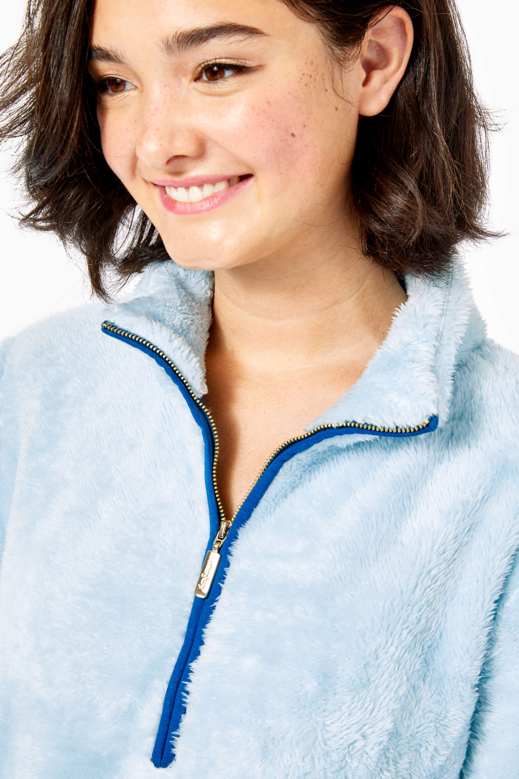 Lilly Pulitzer  Skipper Sherpa Popover - Side Cropped Image