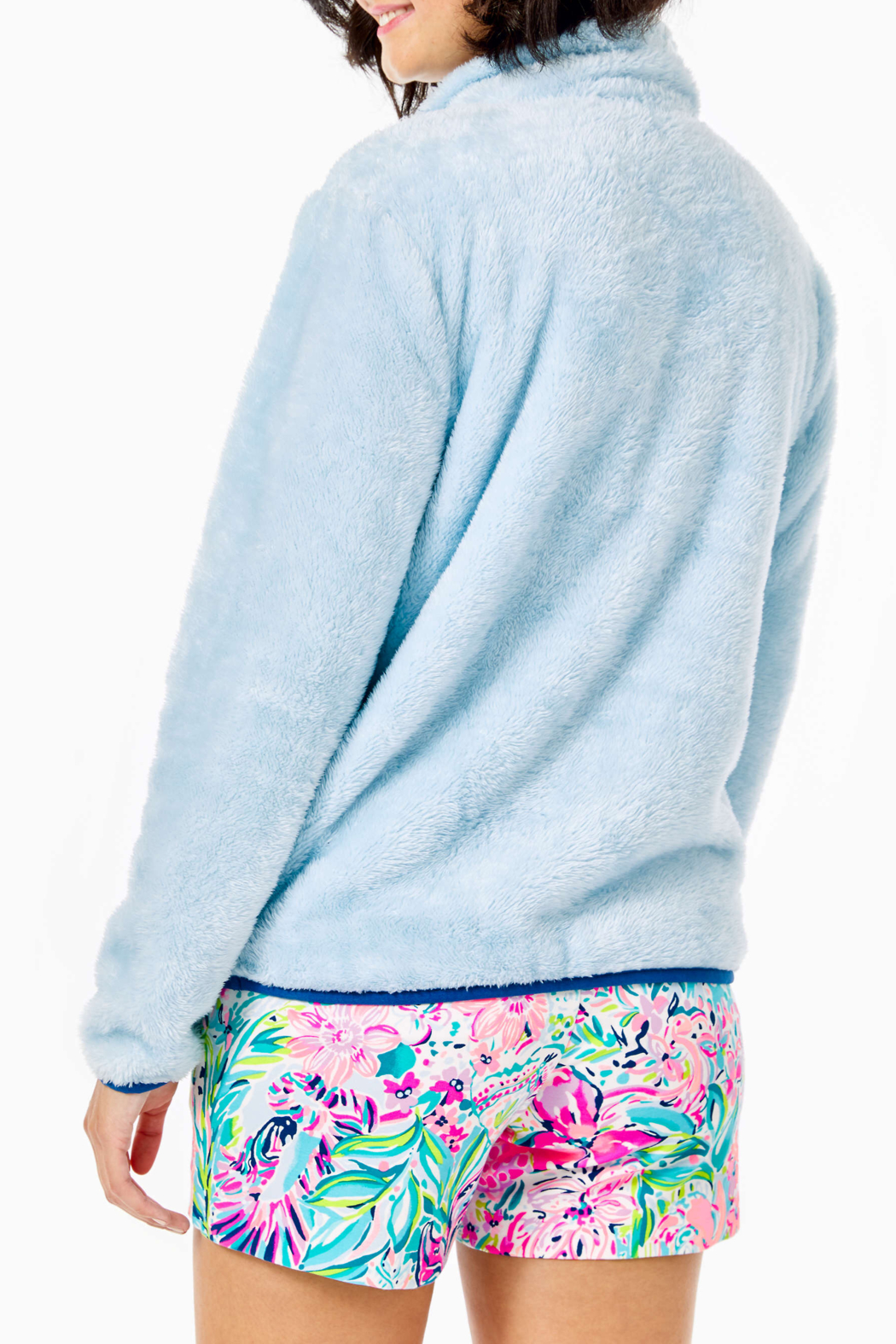 Lilly Pulitzer  Skipper Sherpa Popover - Front Full Image
