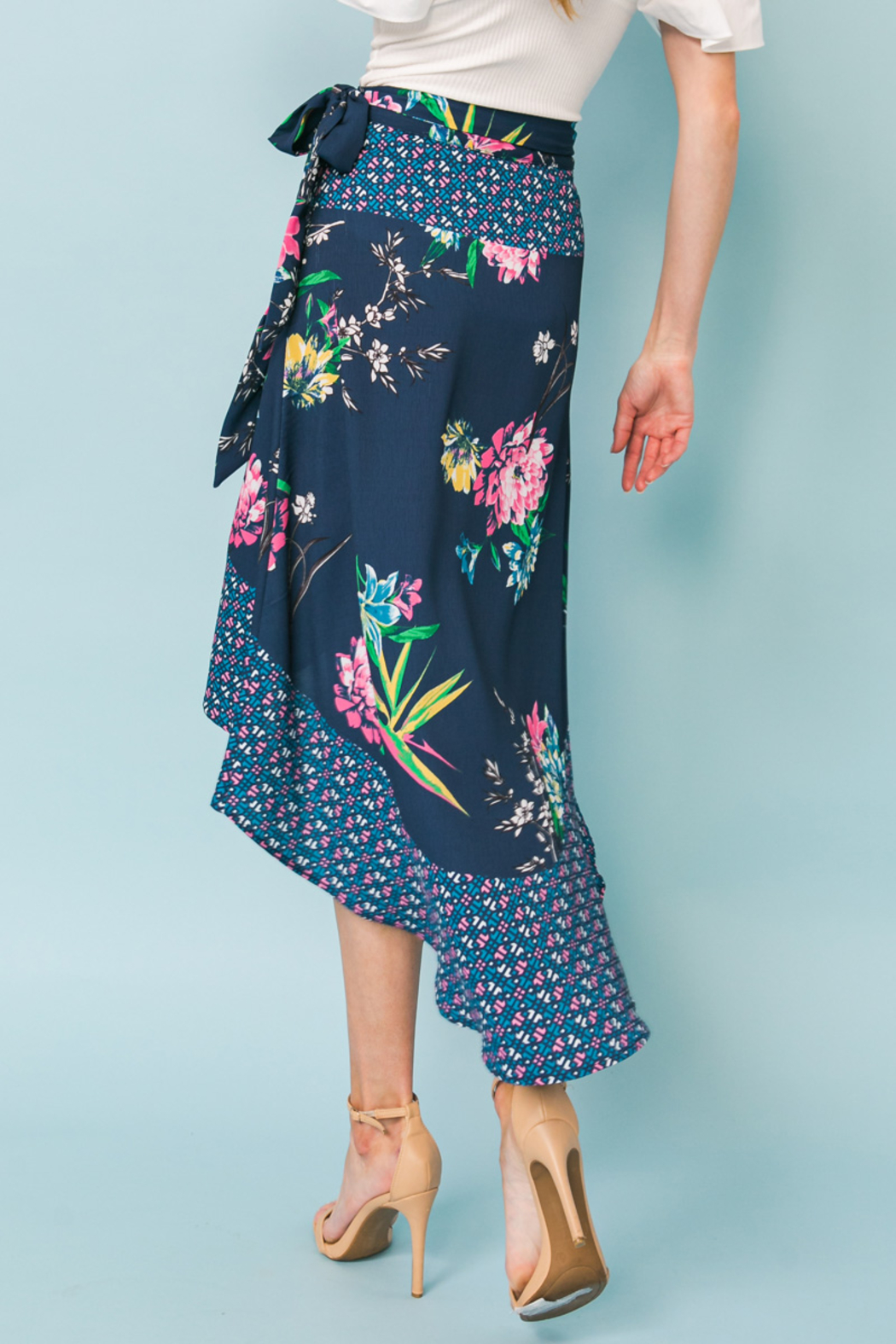 Flying Tomato  SKIRT FLORAL PRINT - Side Cropped Image