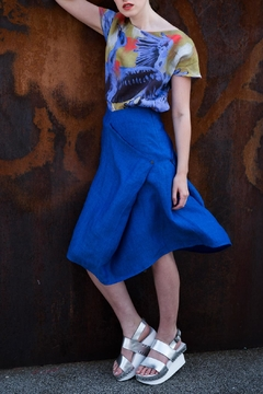 Clara Kaesdorf Skirt Linen Royal-Blue - Product List Image