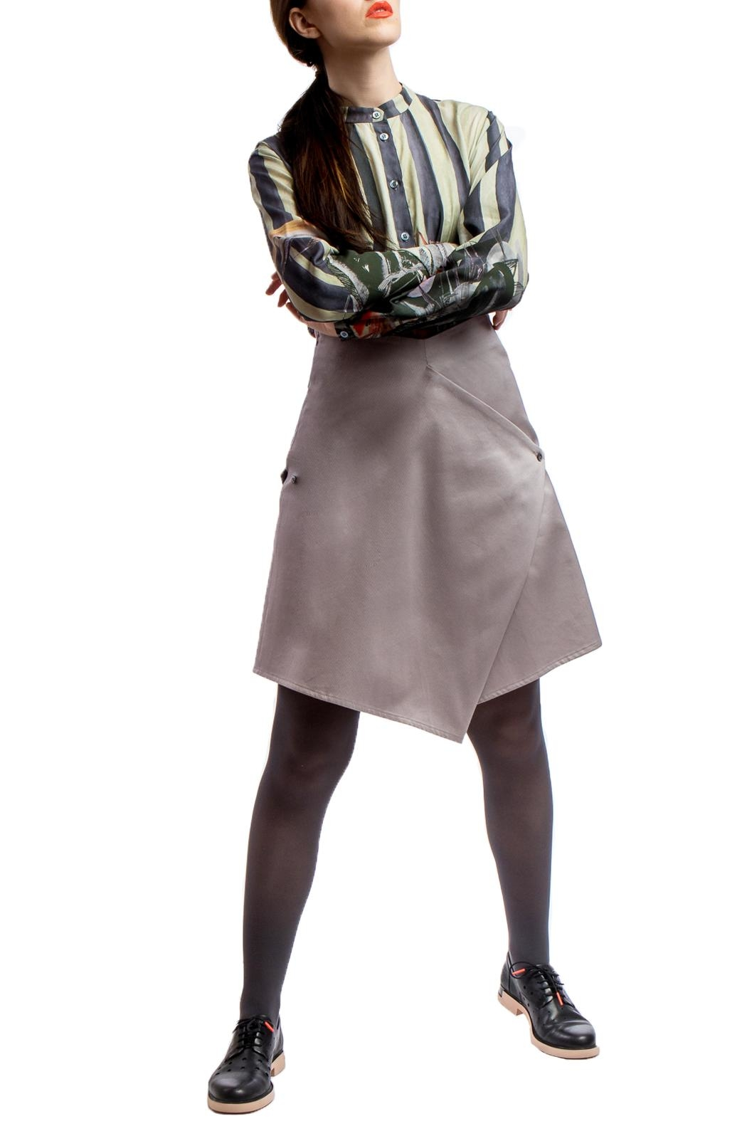 Clara Kaesdorf Skirt Modifiable  Grey - Front Full Image