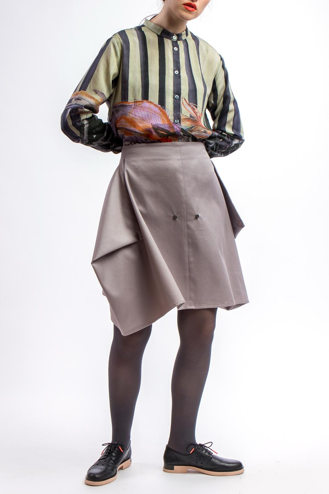 Clara Kaesdorf Skirt Modifiable  Grey - Side Cropped Image