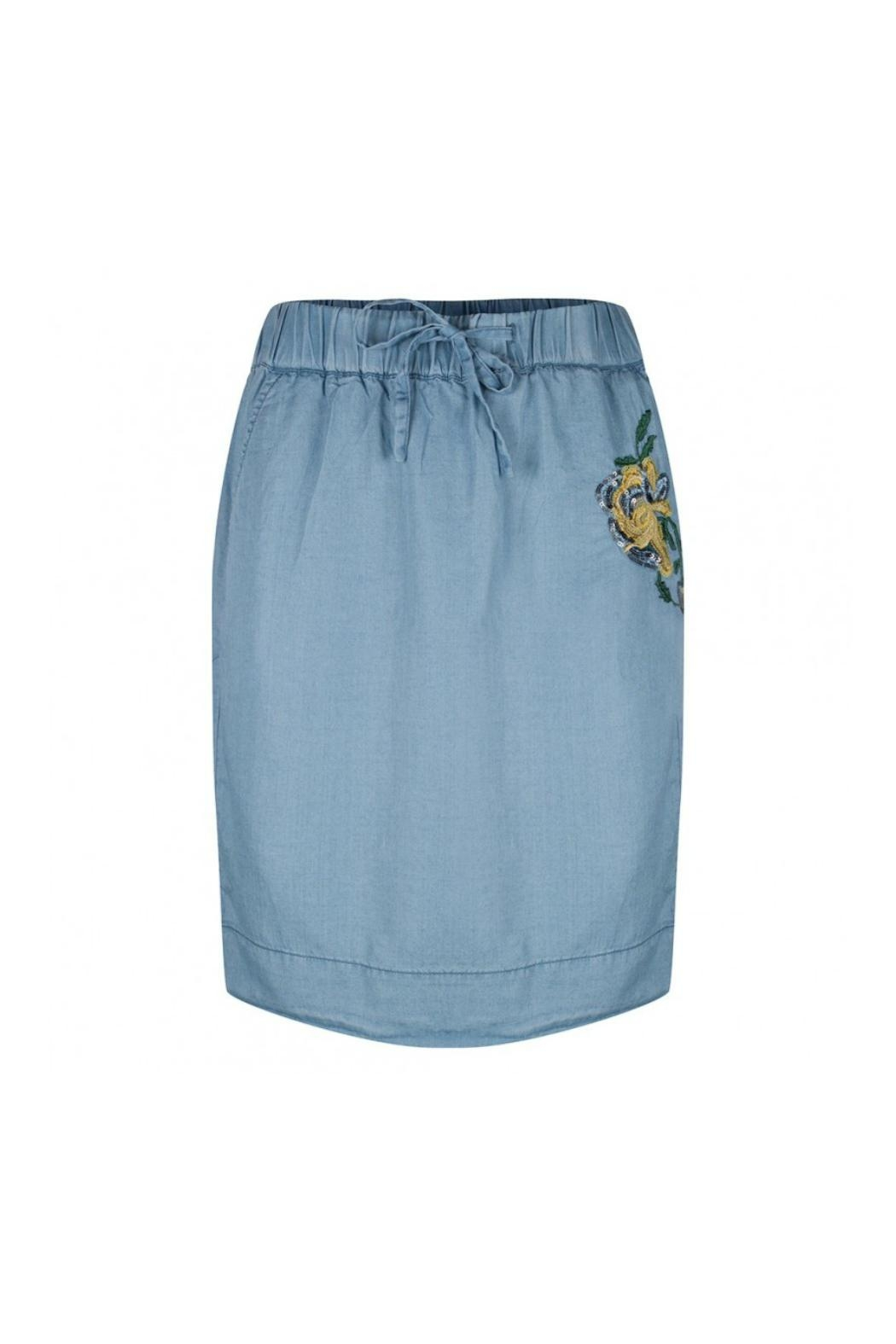 EsQualo Skirt With Embroidery - Main Image