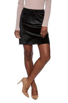 Shoptiques Product: Black Velvet Mini Skirt
