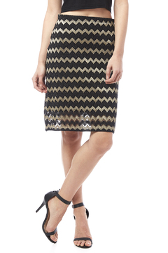Shoptiques Product: Chevron Lace Skirt