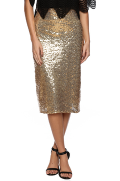 Shoptiques Product: Gold Sequin Midi Skirt