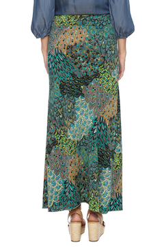 Shoptiques Product: Teal Peacock Maxi Skirt