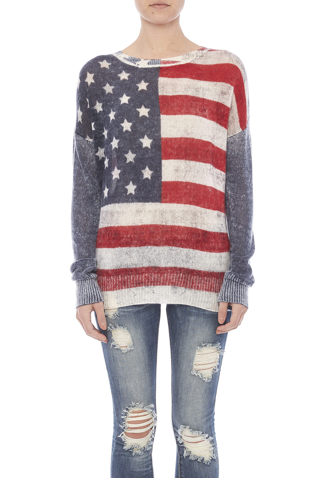 Skull Cashmere America Cashmere Sweater - Side Cropped Image