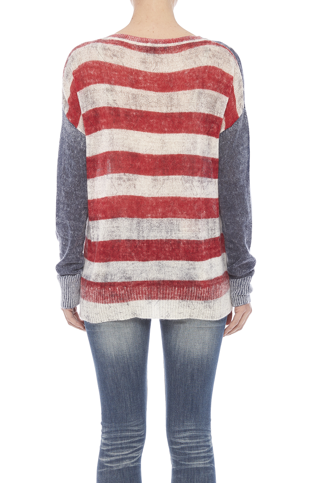 Skull Cashmere America Cashmere Sweater - Back Cropped Image
