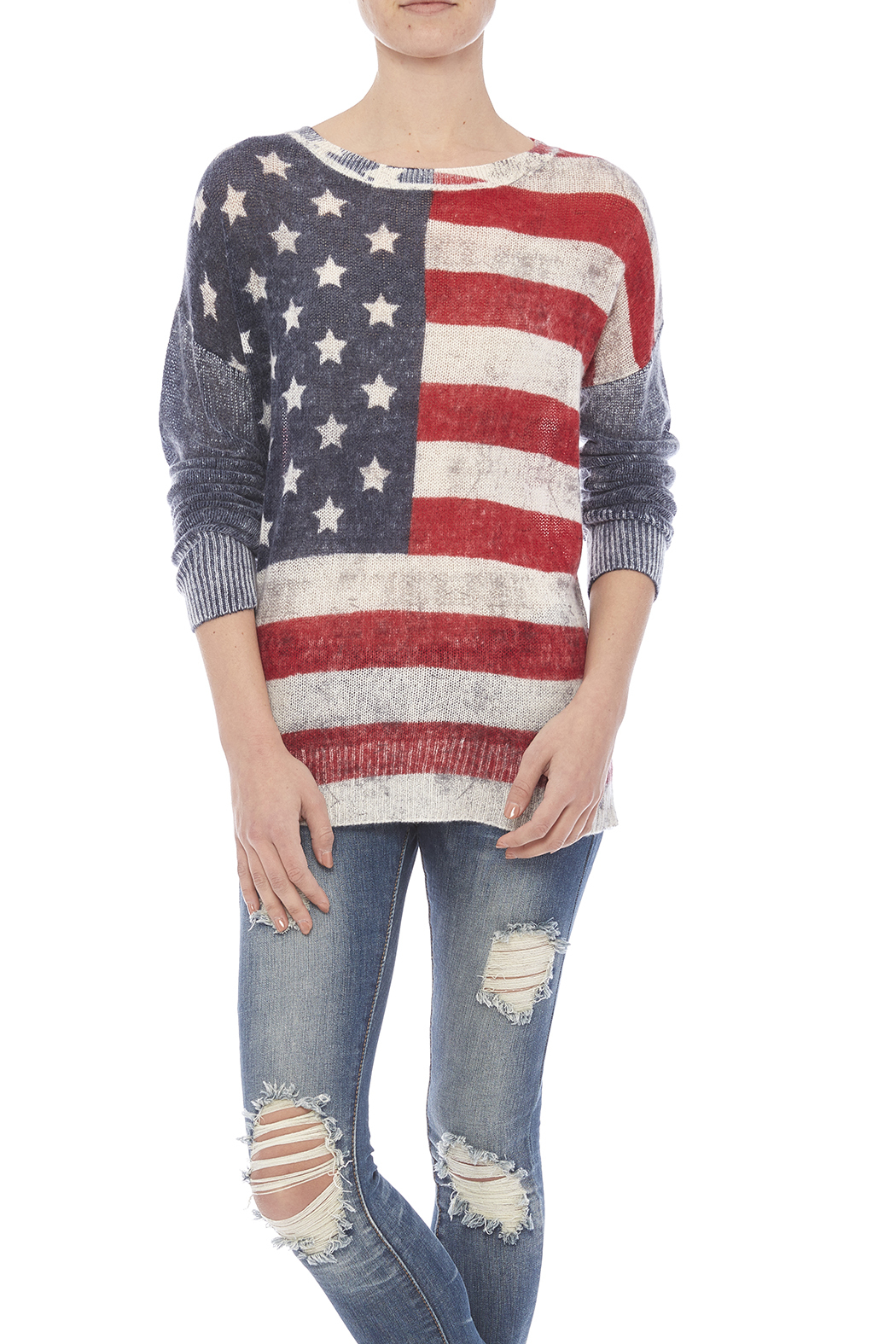 Skull Cashmere America Cashmere Sweater - Front Cropped Image