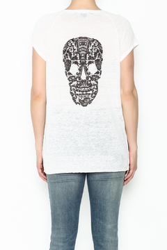 Skull Cashmere Cashmere Lace Skull Top - Alternate List Image