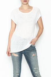 Skull Cashmere Cashmere Lace Skull Top - Front cropped