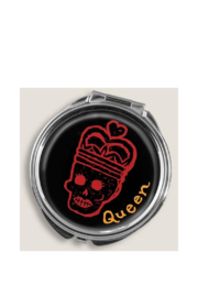 Trixie & Milo Skull Queen Pill Box - Front cropped