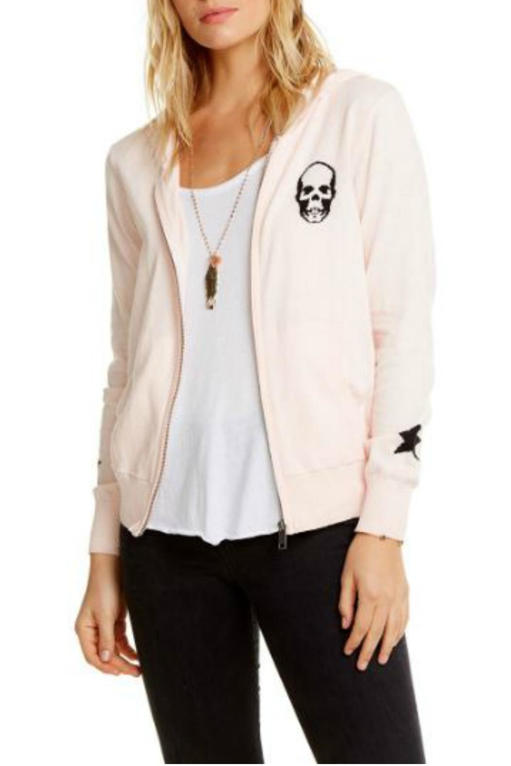 Chaser Skull Star Zip-Up - Front Cropped Image