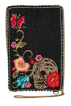 Mary Frances Skull Tattoo Cellphone Bag - Product List Image