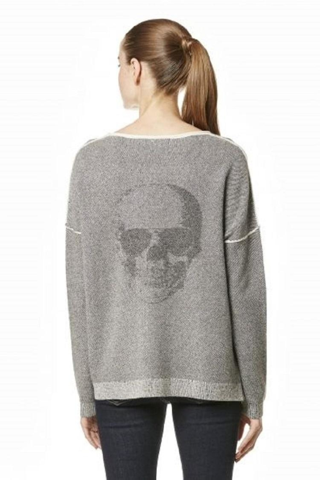 Skull Cashmere Absinthe Grey Sweater - Front Full Image