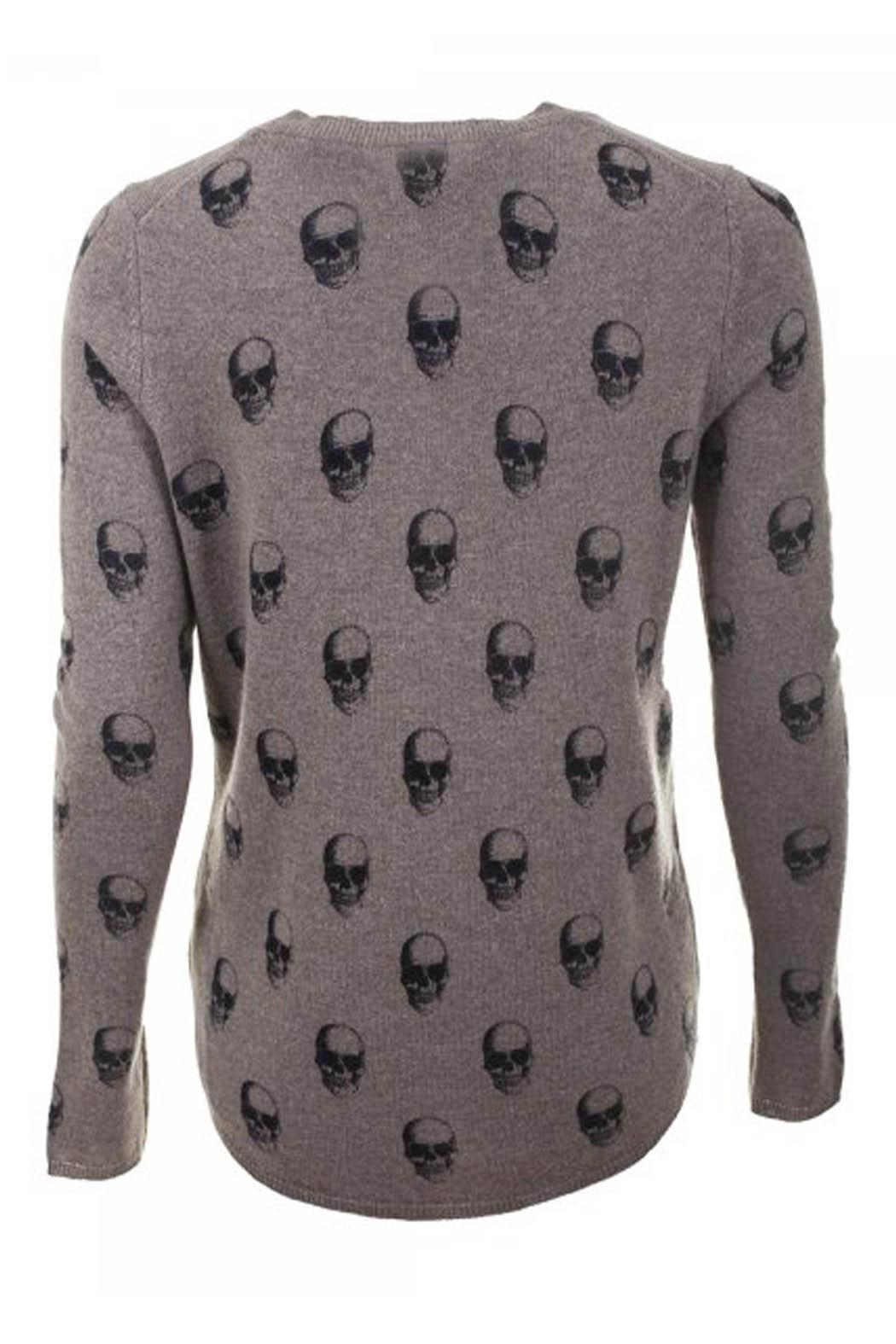 Skull Cashmere Almond Grendal Cashmere Sweater - Front Full Image
