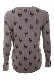 Skull Cashmere Almond Grendal Cashmere Sweater - Front full body
