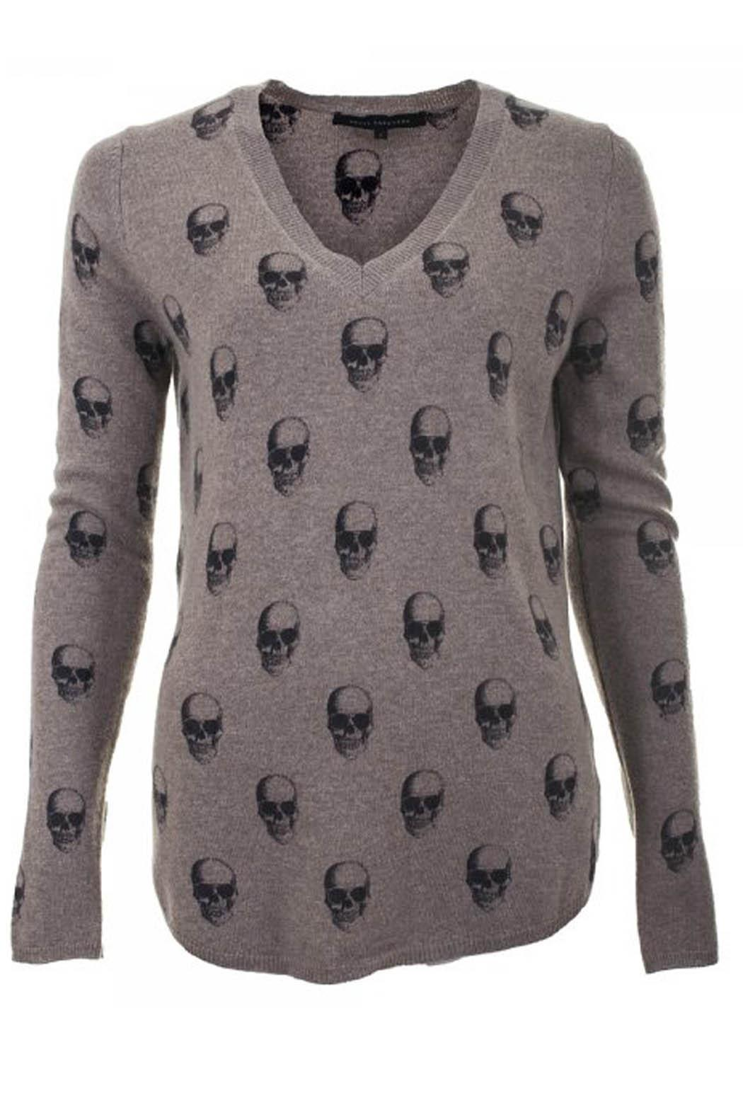 Skull Cashmere Almond Grendal Cashmere Sweater - Main Image
