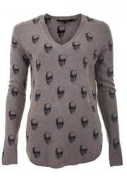 Skull Cashmere Almond Grendal Cashmere Sweater - Front cropped