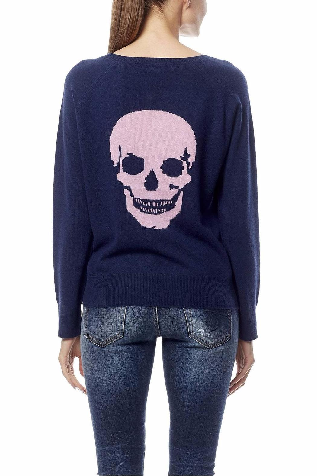 Skull Cashmere Amber Skull Sweater - Front Cropped Image