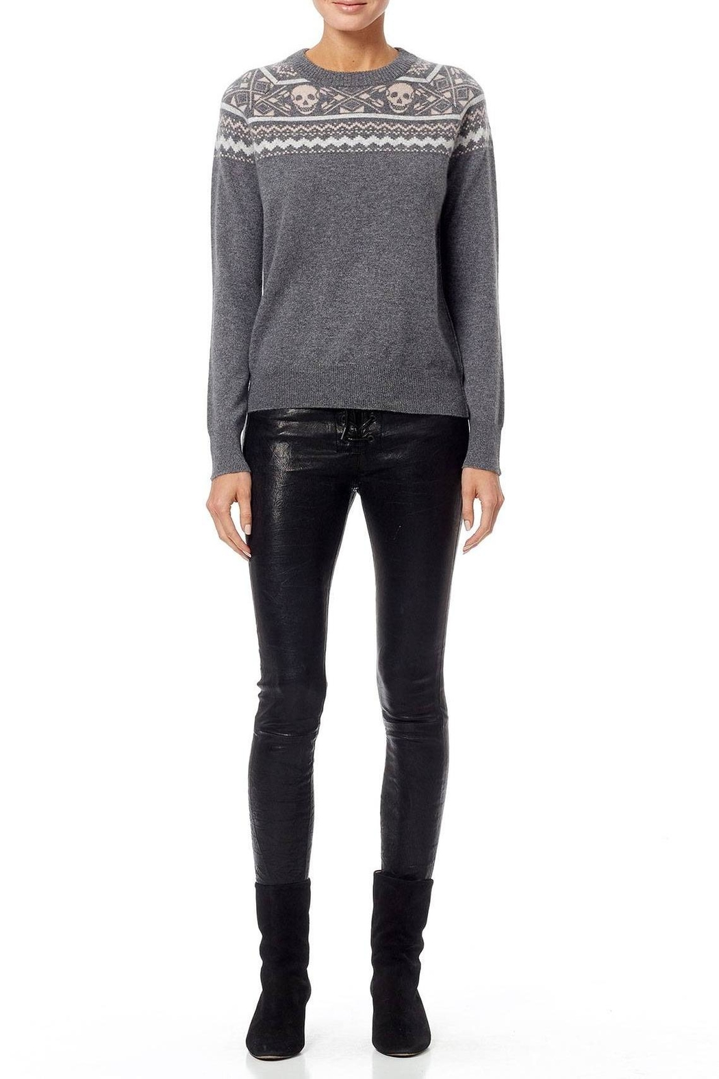 Skull Cashmere Cashmere Miley Sweater - Back Cropped Image