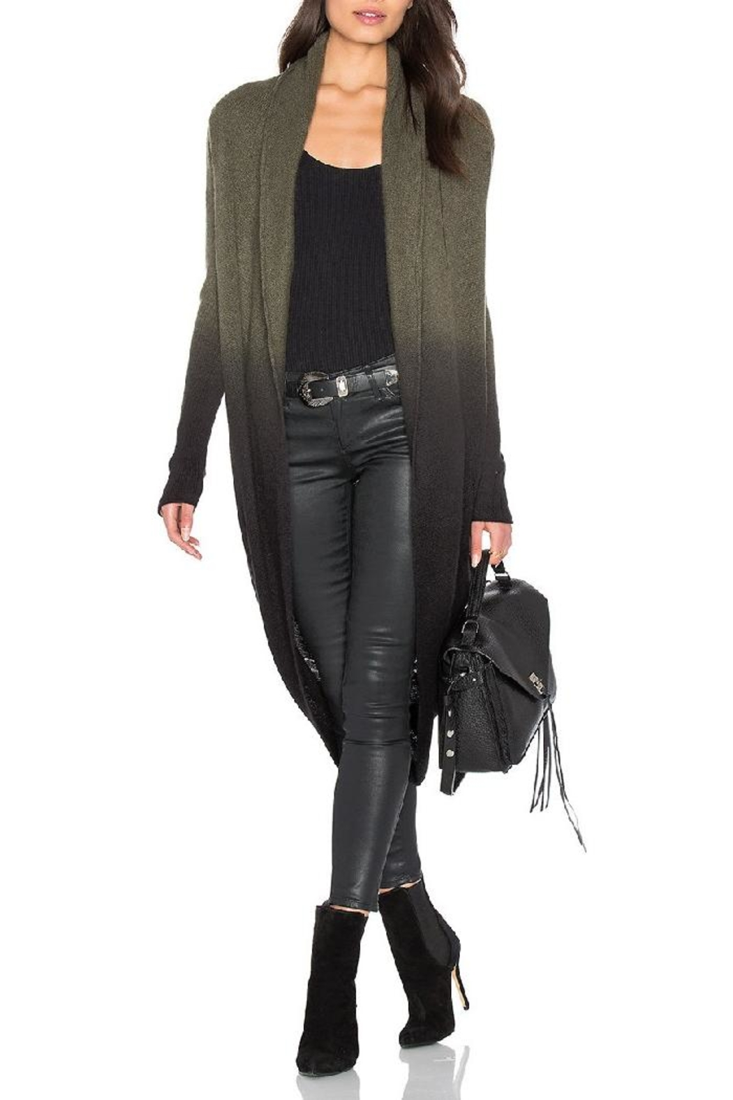 Skull Cashmere Cocoon Loden Jacket - Main Image