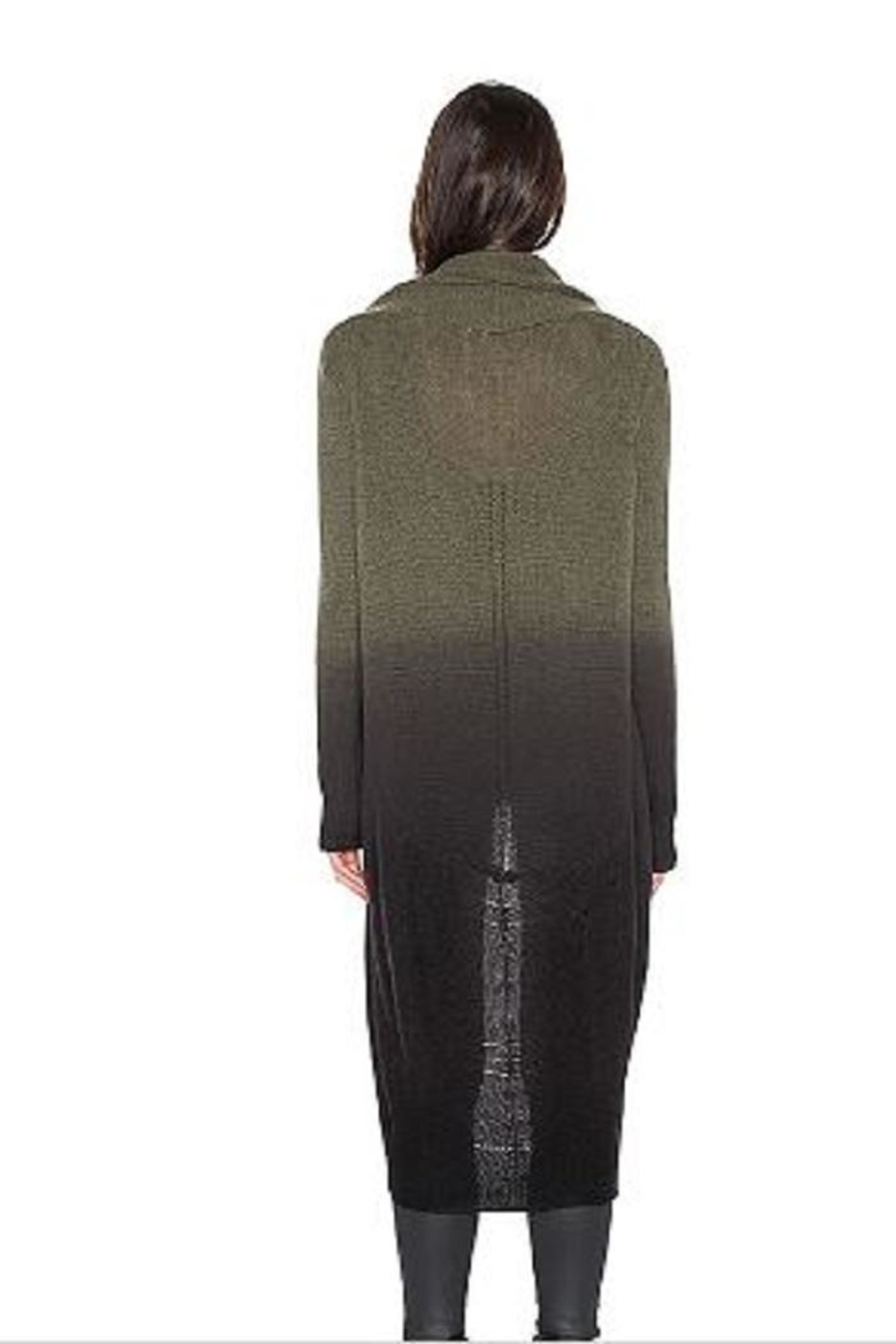 Skull Cashmere Cocoon Loden Jacket - Front Full Image