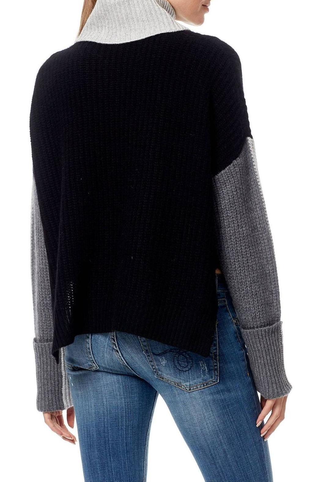 Skull Cashmere Dree Color Block Sweater - Side Cropped Image