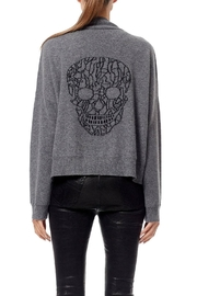 Skull Cashmere Jade Cardigan - Front cropped