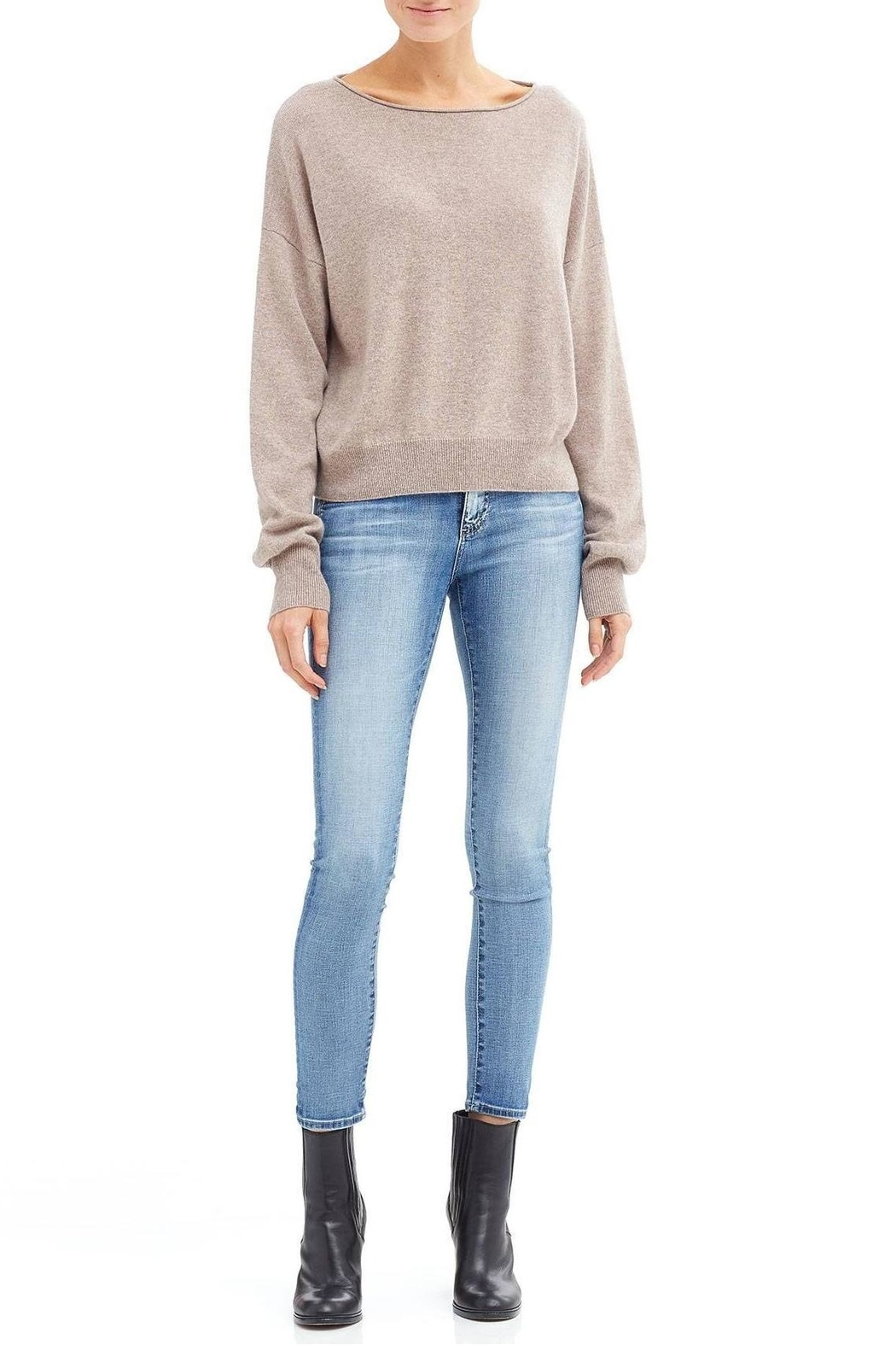 Skull Cashmere Lou Sweater - Back Cropped Image