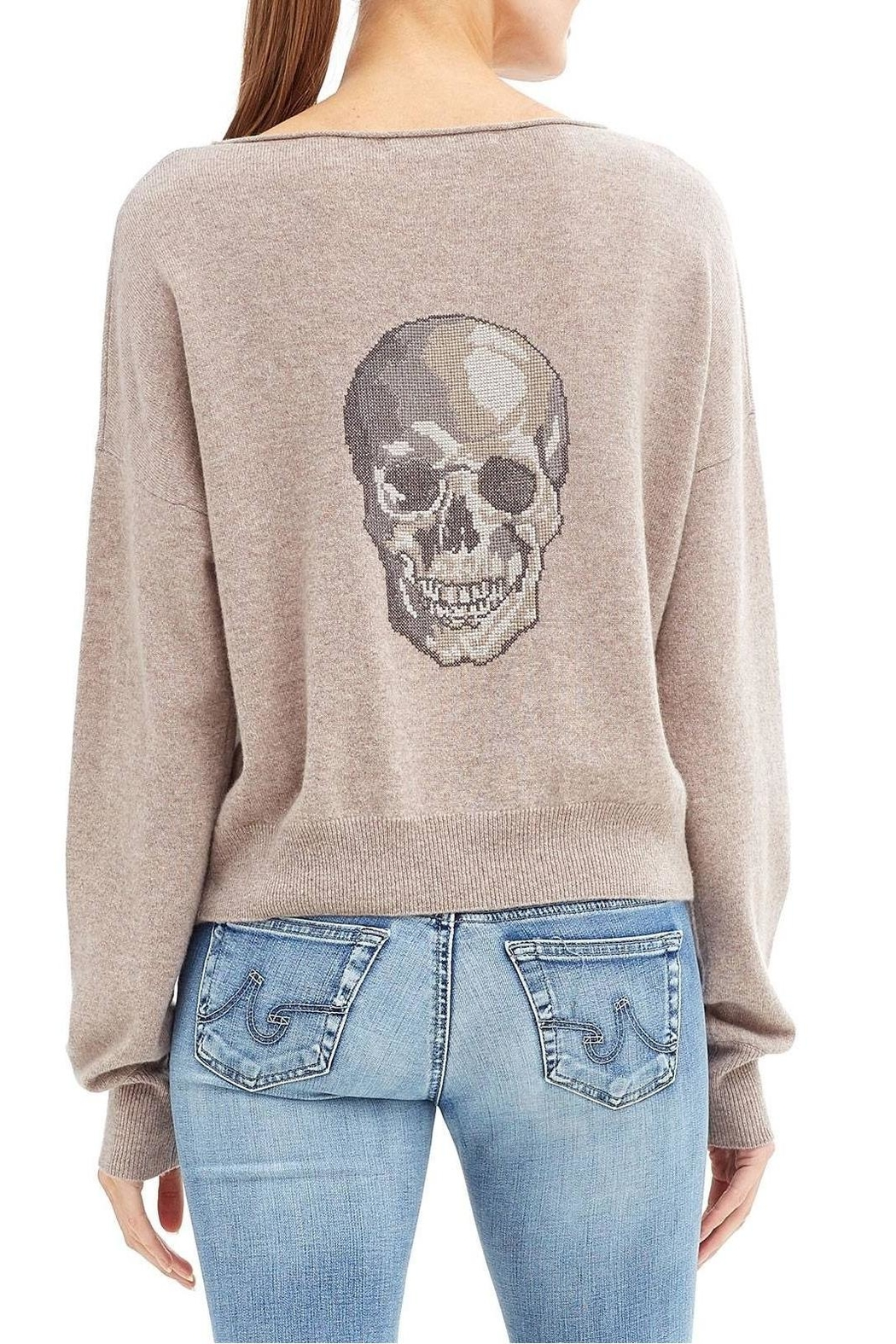 Skull Cashmere Lou Sweater - Front Cropped Image