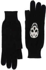 Skull Cashmere Luther Gloves - Front cropped