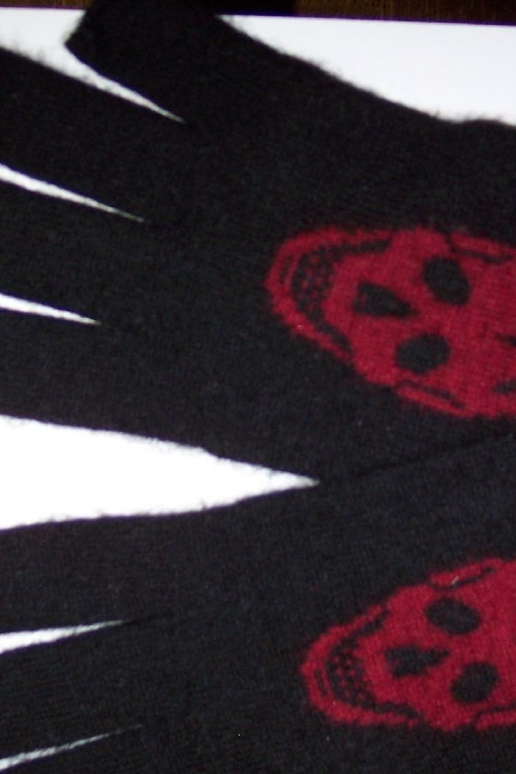 Skull Cashmere Luther Gloves - Front Cropped Image