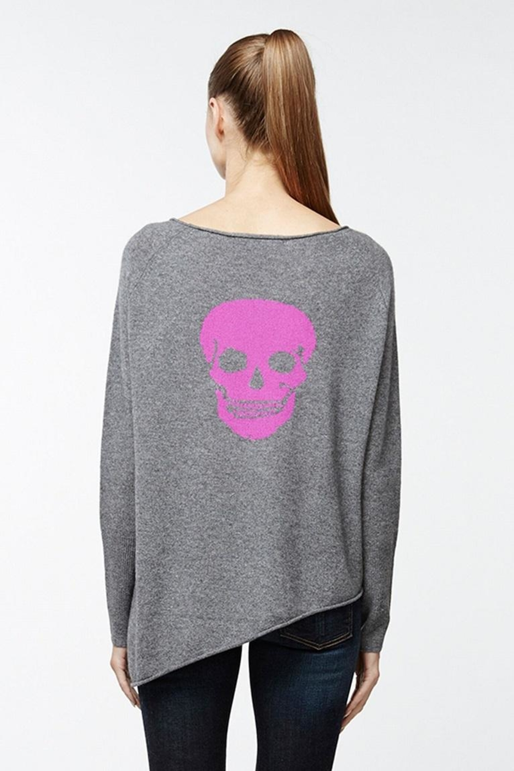 Skull Cashmere Outlaw Asymetrical Sweater - Main Image