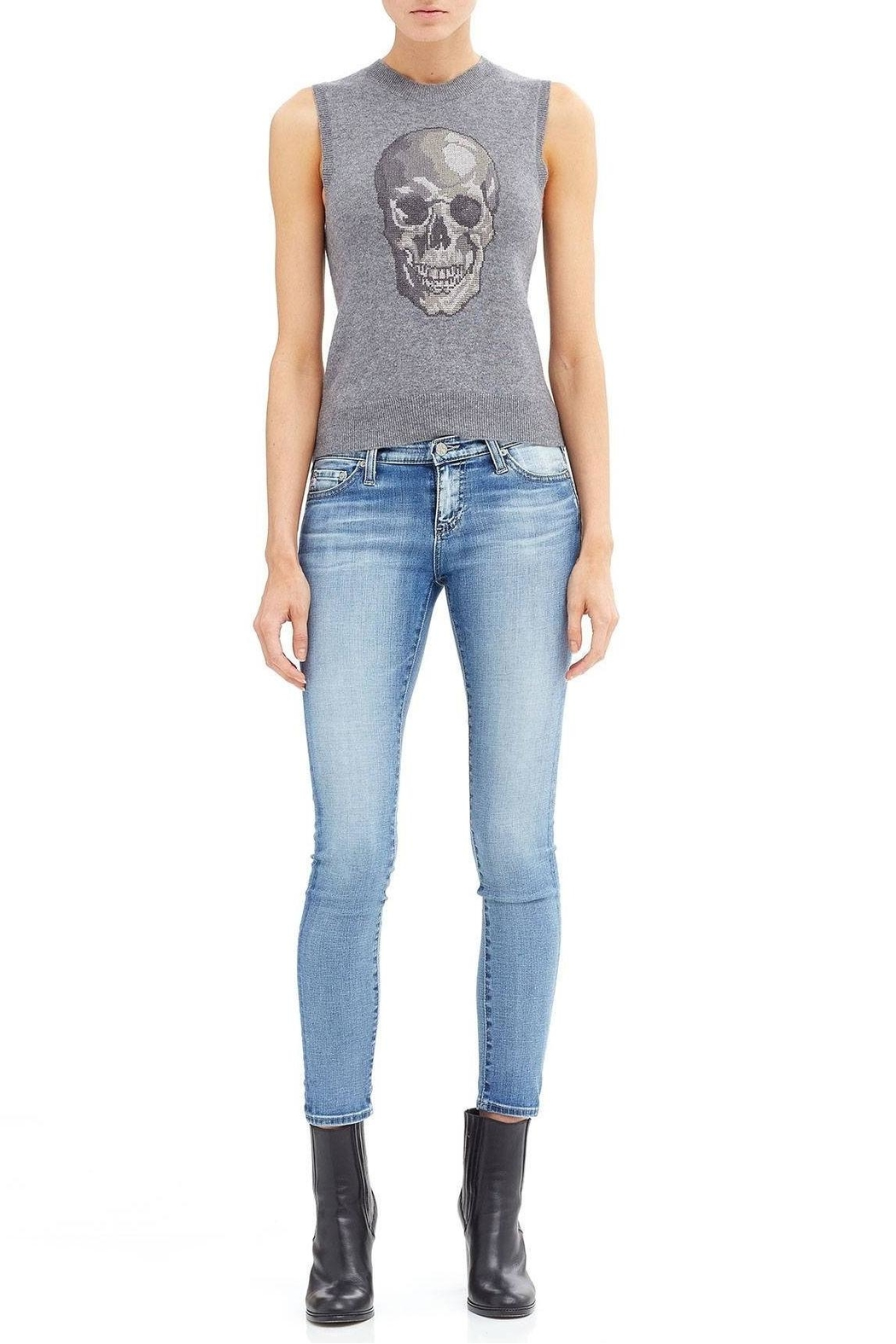Skull Cashmere Shine Skull Tank Top - Side Cropped Image
