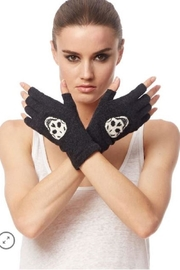 Skull Cashmere Skull Fingerless Gloves - Product Mini Image