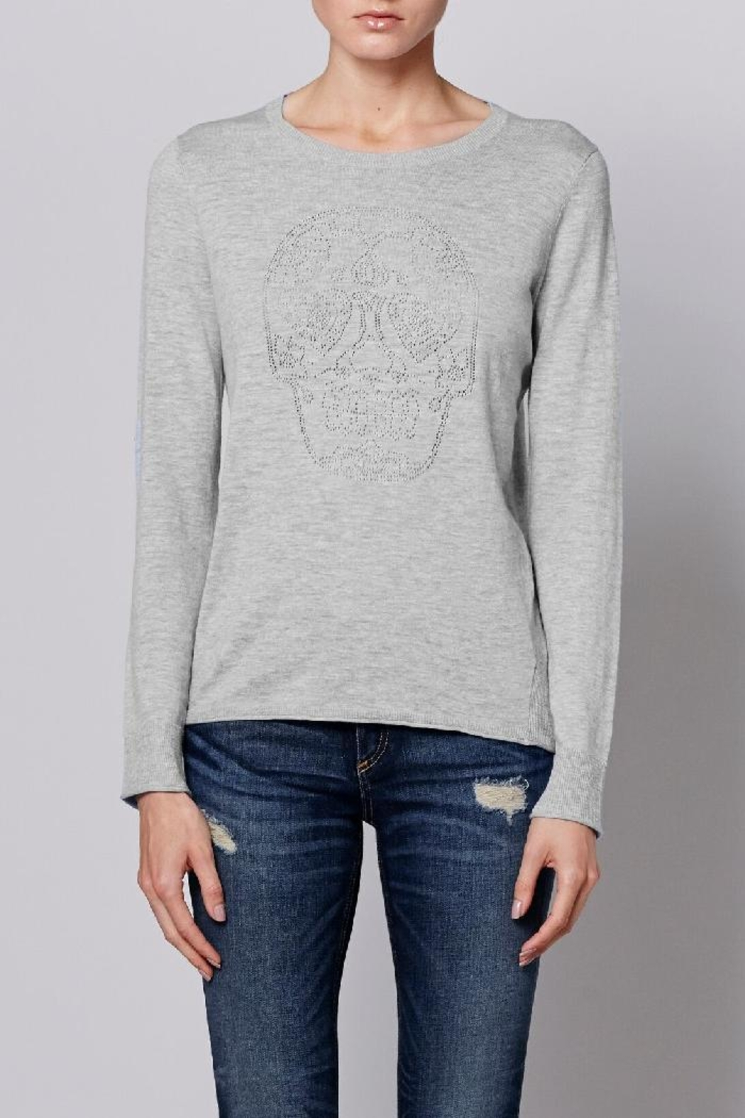 Skull Cashmere Sugar Heart Sweater - Main Image
