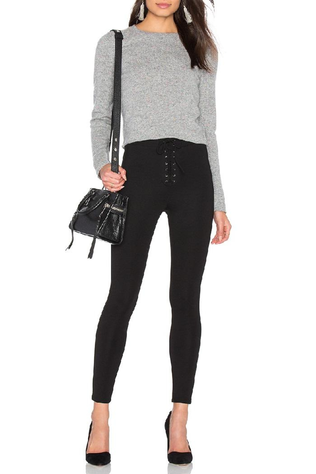 Skull Cashmere Trova Cropped Sweater - Side Cropped Image