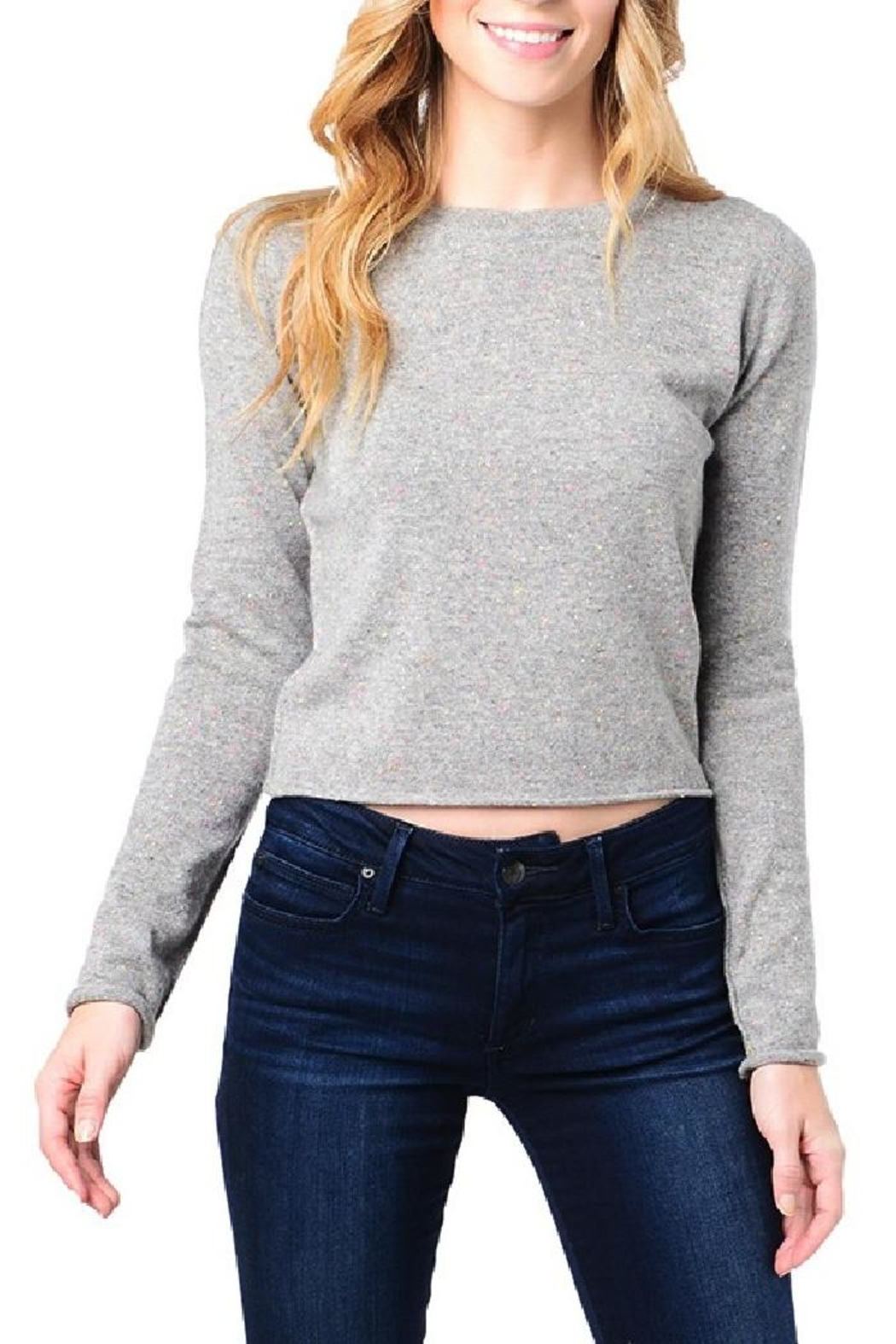 Skull Cashmere Trova Cropped Sweater - Front Cropped Image