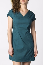 Skunkfunk Green Shift Dress - Product Mini Image