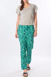 Skunkfunk Green Floral Trousers - Product Mini Image
