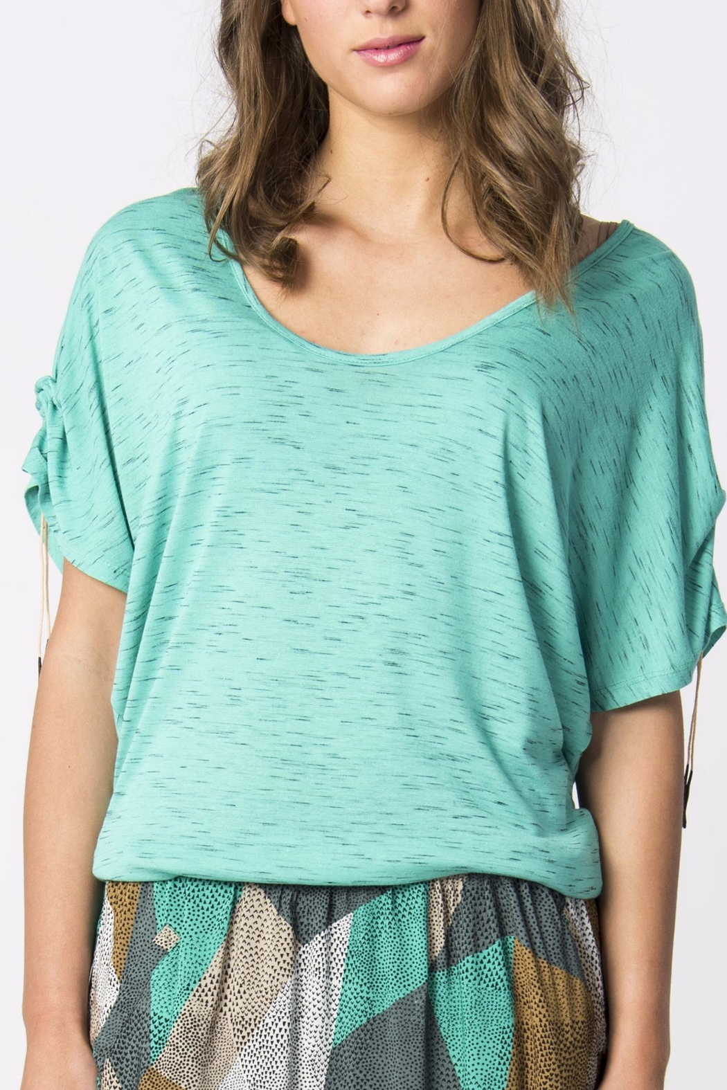Skunkfunk Cinched Sleeve Top - Side Cropped Image