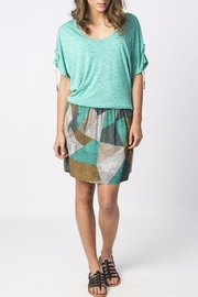 Skunkfunk Cinched Sleeve Top - Front cropped